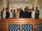 Members and friends of the PGCMDC, on the floor of the Maryland House of Delegates.