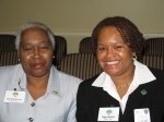 NSU alumni, Charlotte Williams and Peggy Mayfield.