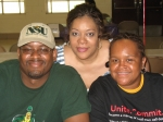 Langston, Tremyl and Peggy taking a break while working PGCMDC's first Marrow Drive (Jun. 2007).