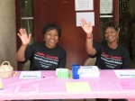 Priscilla and Joan working the table at PGCMDC's Marrow Drive (Jun. 2007).