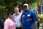 Michelle and Langston with the former mayor of Baltimore City and current governor of the State of Maryland, Martin O'M