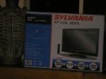 The grand prize for the raffle. Congratulations to Ms. B. Furlough on winning the television.