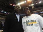 NSU alumn and NBA great Bobby Dandridge poses with PGCMDC President Langston Willis